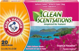 Arm & Hammer Fabric Softener Sheets, Tropical Paradise (20 sheets)