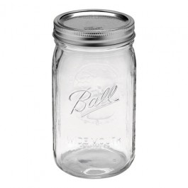Ball Mason Wide Mouth Quart Glass Canning Jar (32OZ)