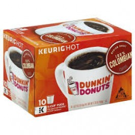 Dunkin' Donuts 100% Colombian Coffee (10x K-CUP Pods) (105g)
