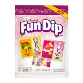 Lik-m-aid Fun Dip, Mango Lime & Cucumber Watermelon (85g)