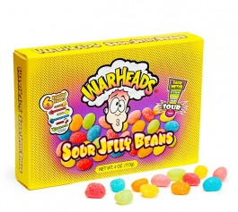 WarHeads Sour Jelly Beans Box (113g) (BEST BY 11-05-2019)