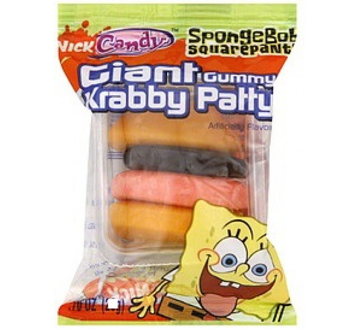 SpongeBob Krabby Patty Gummy Candy (18g)