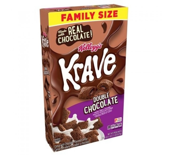 Kellogg's Krave Chocolate Hazelnut, Cereal (375g)