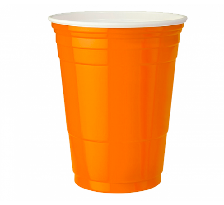 Orange American Party Cups (473ml) USfoodz