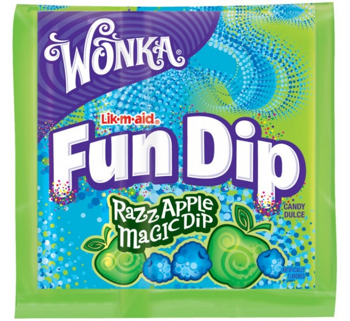 Wonka Lik-m-aid Fun Dip Razz Apple Magic Dip (12g)
