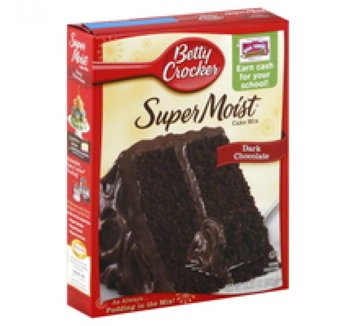 Betty Crocker Supermoist Dark Chocolate Cake Mix