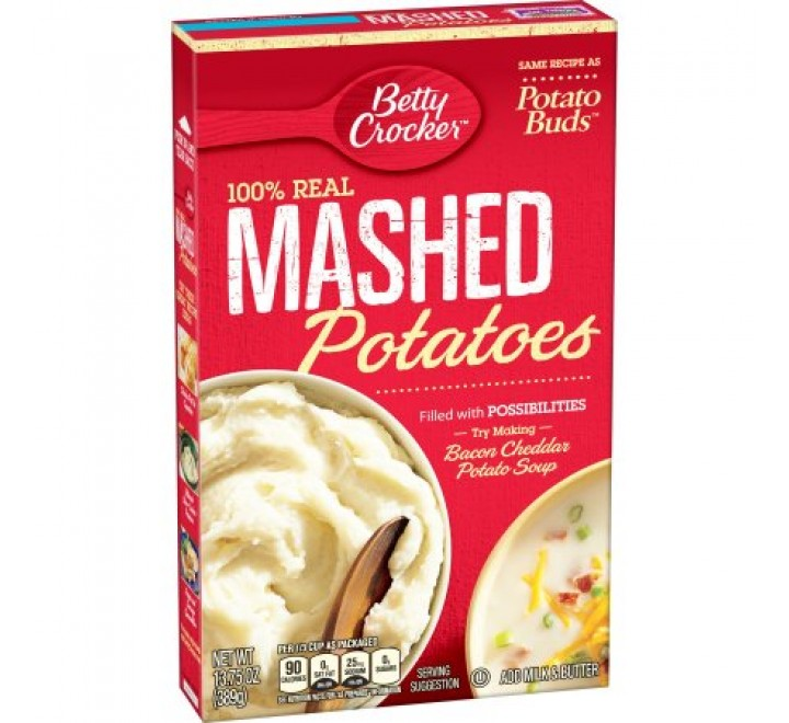 Betty Crocker 100% Real Mashed Potatoes (389g) (BEST BE 27-06-19)