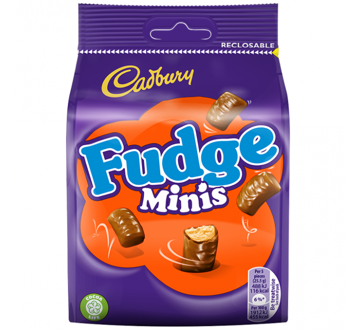 Cadbury Fudge Minis, Bag (120g)