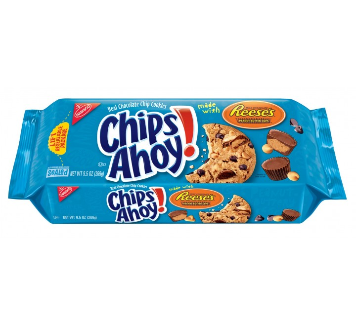 Chips Ahoy! Crunchy with Reese's (blue pack) (269g)