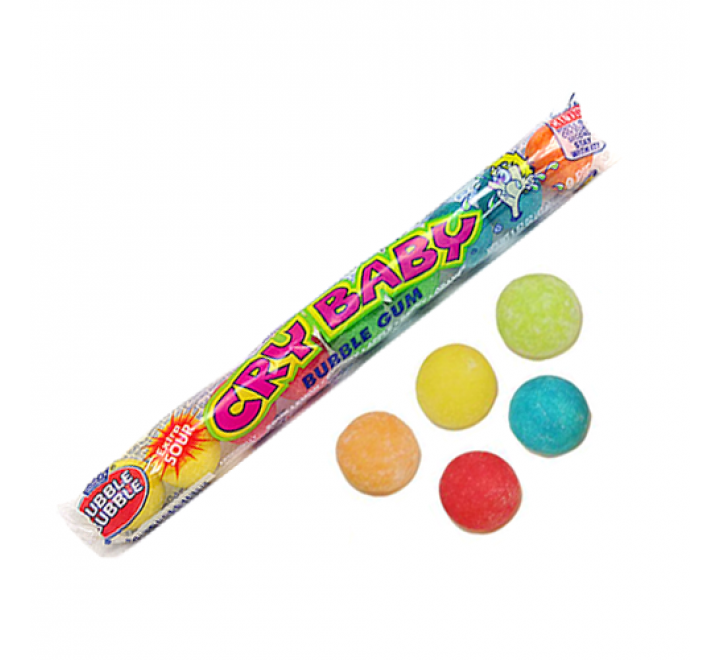 Cry Baby Bubble Gum Extra Sour (47g)