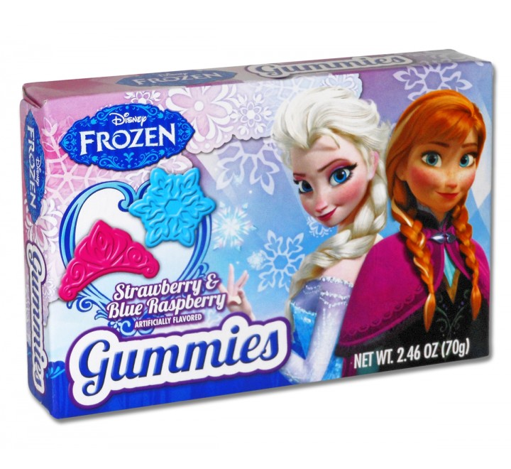 Disney Frozen Strawberry & Blue Raspberry Gummies (70g)