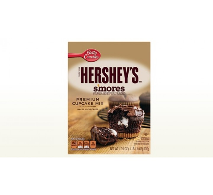 Betty Crocker Hershey's S'mores Premium Cupcake Mix (507g)