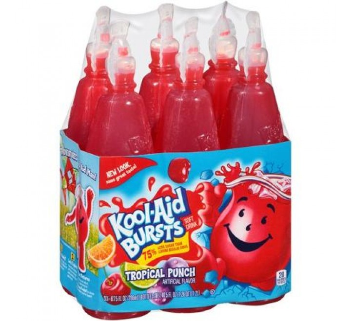 Kool-Aid Bursts Tropical Punch Soft Drink, 6-Pack (1.2L)