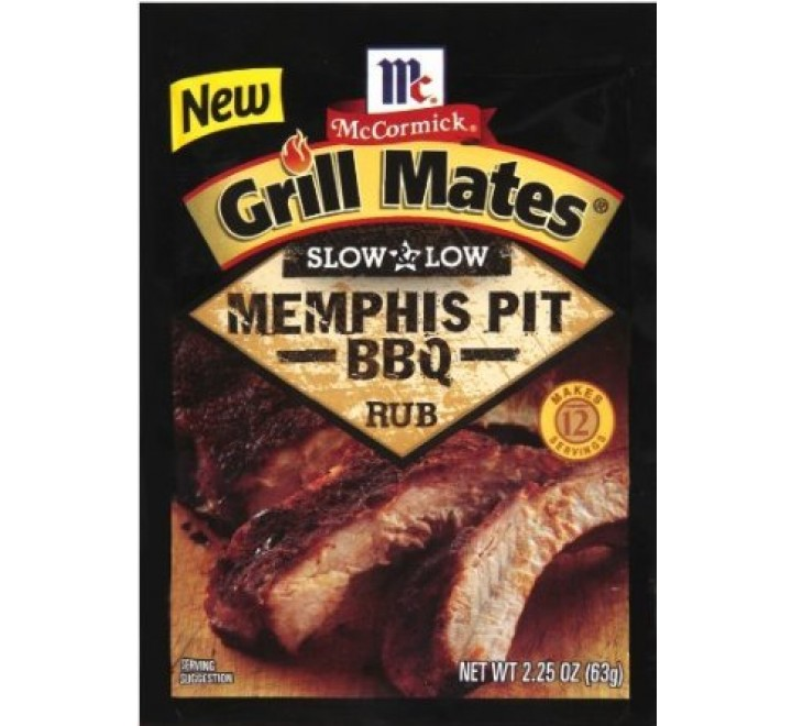 McCormick Grill Mates Slow and Low Memphis Pit BBQ Rub Marinade (63g)