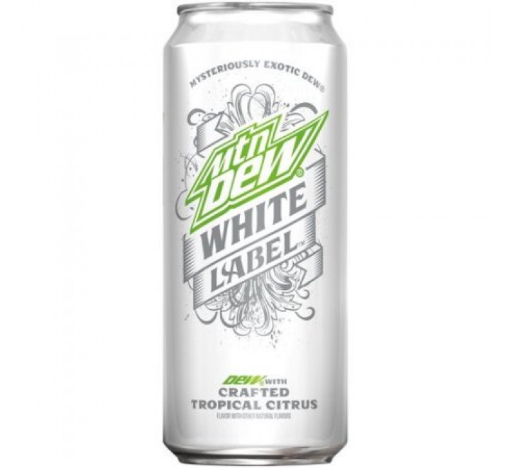 Mountain Dew White Label, Tropical Citrus (473ml) USfoodz