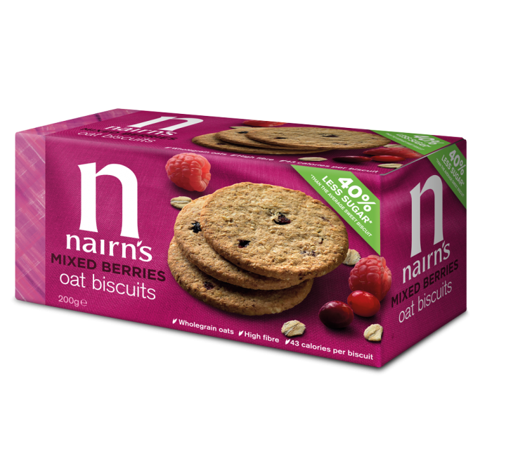 Nairn's Mixed Berries Oat Biscuits (200g) (BEST-BY DATE: 01-02-21)