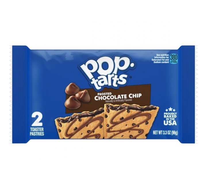 Pop-Tarts Chocolate Chip, Frosted 2-Pack (96g)