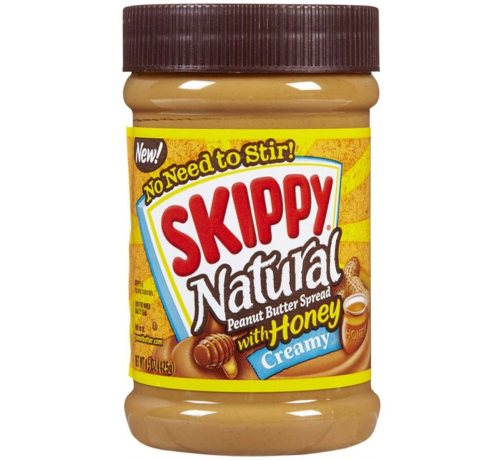 Skippy Natural Creamy Peanut Butter Spread with Honey (425g)