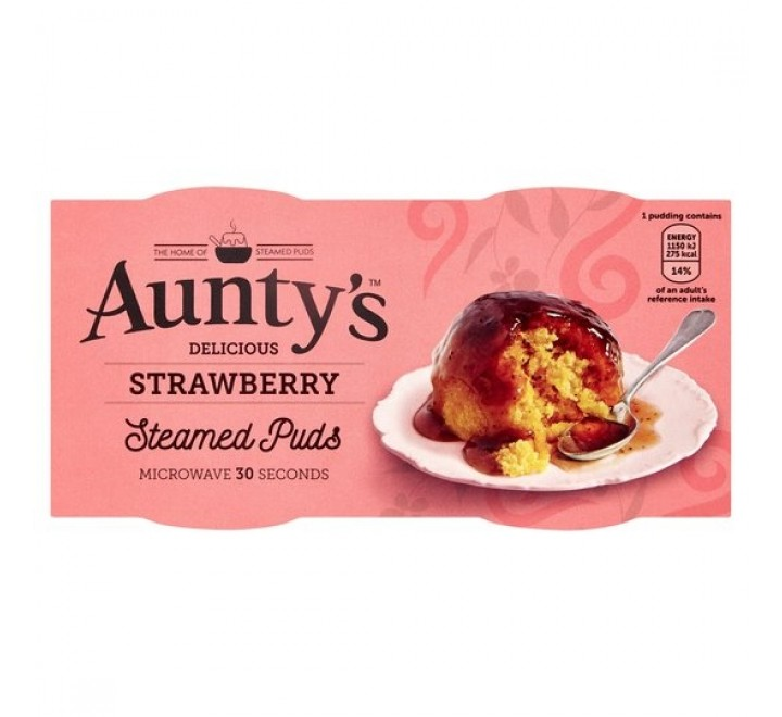 Aunty's Steamed Strawberry Puddings (2x95g)