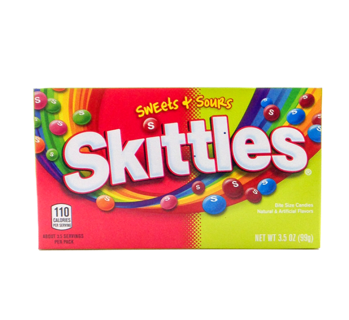 Skittles Sweets & Sours  Theater Box (99g)