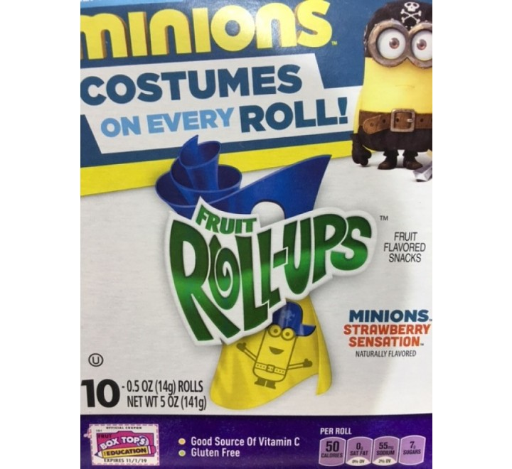 Betty Crocker Fruit Roll-Ups Minions Strawberry Sensation Fruit Flavored Snacks (141g)
