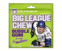 Big League Chew Bubble Gum, Swingin' Sour Apple (60g)