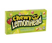 Chewy Lemonhead Fiercely Citrus Assorted Fruit Candies, Theater Box (142g)