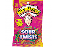 Warheads Sour Twists, Bag (113g)