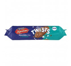 McVitie's Digestives Twists Chocolate Chip & Coconut Biscuits (276g)