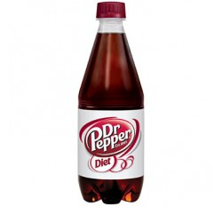 Dr Pepper Diet Bottle (591ml)