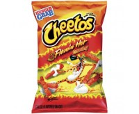 Cheetos Crunchy Flamin' Hot, Large Bag (227g) (BEST BY 30-04-21)
